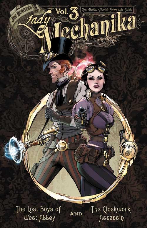 LADY MECHANIKA OVERSIZED VOL #1 HARDCOVER Benitez Productions Steampunk Comic HC